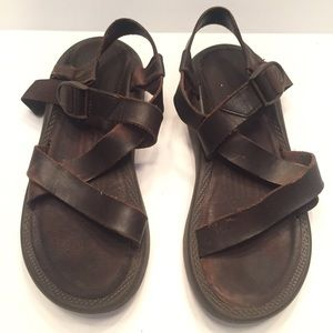 11 Chacos brown leather sandals